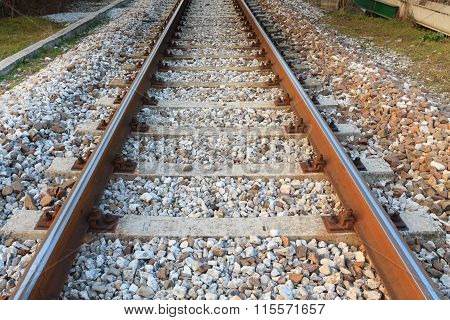Train Tracks In Perspective