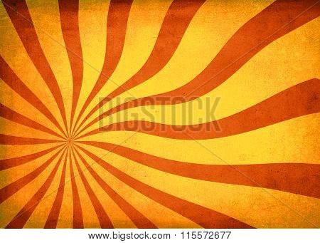 Sun Burst Vintage Textured Red And Gold Background
