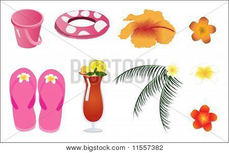 Vector Summer Beach Items