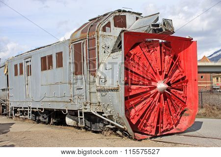 Vintage Rail Snow Plow
