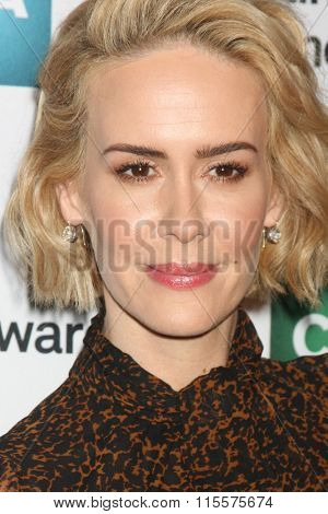 LOS ANGELES - JAN 21:  Sarah Paulson at the 31st Annual Artios Awards at the Beverly Hilton Hotel on January 21, 2016 in Beverly Hills, CA