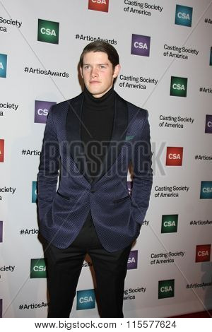 LOS ANGELES - JAN 21:  Alex MacNicoll at the 31st Annual Artios Awards at the Beverly Hilton Hotel on January 21, 2016 in Beverly Hills, CA