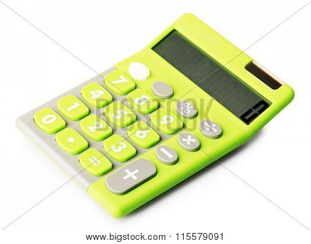 A calculator isolated on white background
