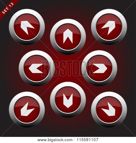 Icons With Arrows - Eight Directions