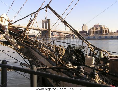 Brooklyn Bridge And Mast
