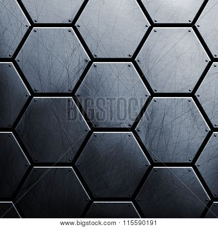 Metal Background Close-up