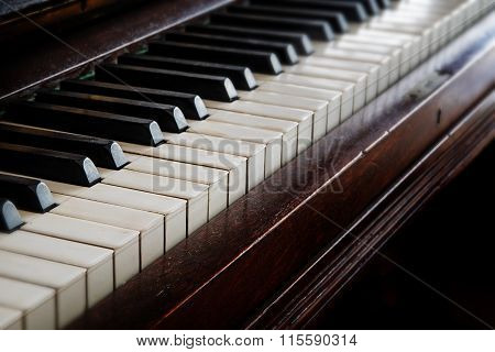 Antique Piano Keyboard, Music Concept