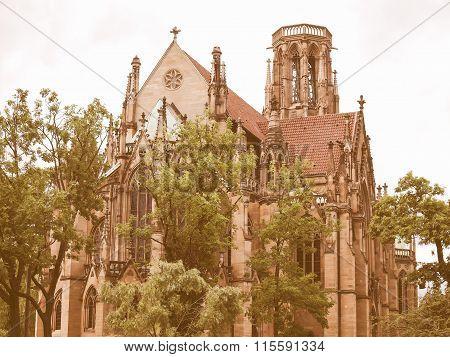 Johanneskirche Church, Stuttgart Vintage