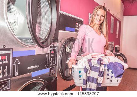 Woman In A Laundromat