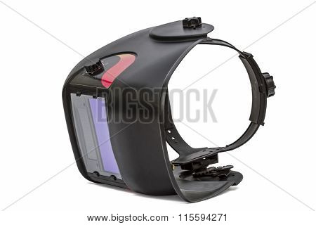 Welding Mask Closeup, Isolated On White Background