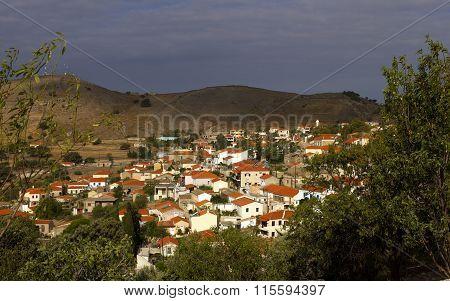 Typical mountainous Greek village