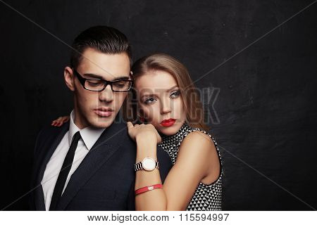 Sexy Impassioned Couple,office Love Story