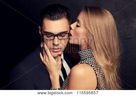 Sexy Impassioned Couple.office Love Story