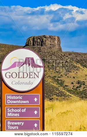 The Iconic Butte above Golden, Colorada