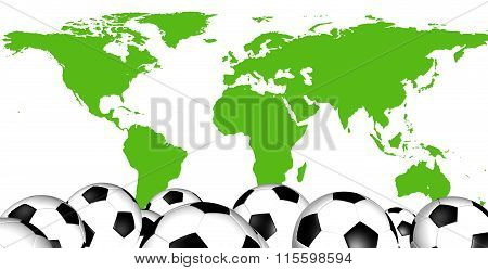 Soccer Balls with World Map