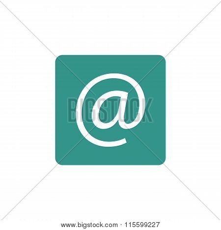 Email Icon On Coloured Round Background