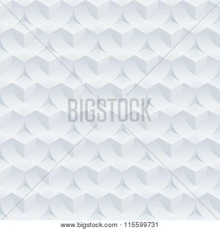 Absract optical illusion. Seamless vector background with 3D effect.