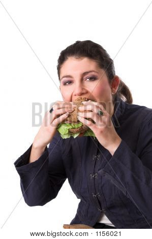 Enjoying A Healthy Sandwich