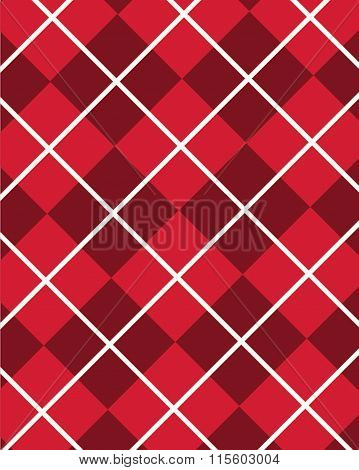 Red Argyle Pattern - Vector