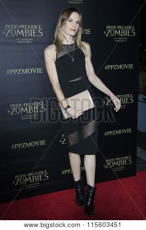 LOS ANGELES - JAN 21:  Lauren Shaw at the Pride And Prejudice And Zombies Premiere at the Harmony Gold Theatre on January 21, 2016 in Los Angeles, CA