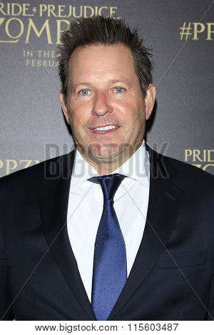 LOS ANGELES - JAN 21:  Brian Oliver at the Pride And Prejudice And Zombies Premiere at the Harmony Gold Theatre on January 21, 2016 in Los Angeles, CA
