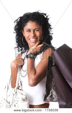 Happy Shopping Girl