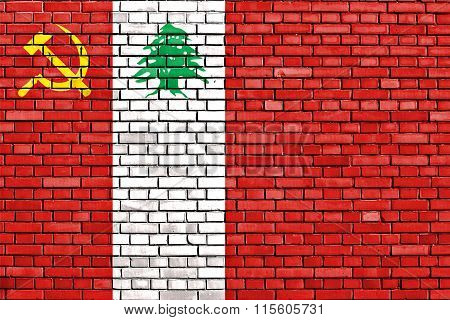 Flag Of Lcp Painted On Brick Wall