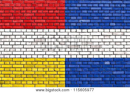Old Flag Of Guatemala Painted On Brick Wall