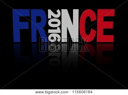 France Euro 2016 flag text illustration