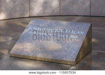 Ronald Reagan Headstone At Reagan Library