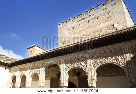 Alhambra Court Of The Myrtles South Portico
