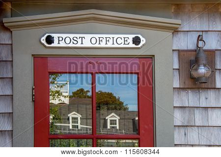 Post Office Door - Rural Coastal Town