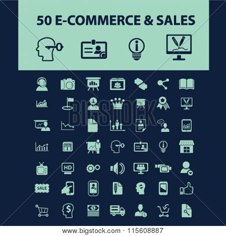 e-commerce, store, shopping, retail, sales  icons, signs vector concept set for infographics, mobile, website, application