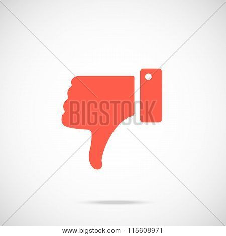 Vector dislike icon. Vector icon red pictogram