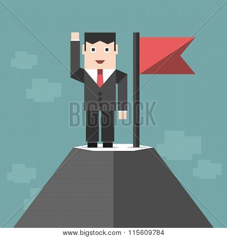 Businessman On High Peak