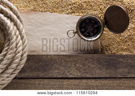 Twisted Jute Rope Compass Navigation