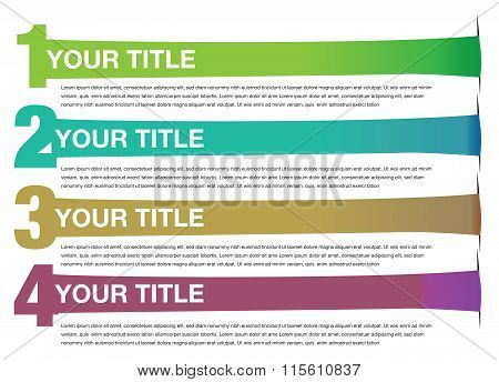 Stretched Banners Vector Background Design