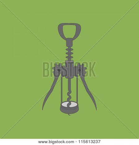 Wine Bottle Corkscrew Icon