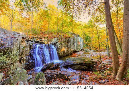 Kilgore Waterfall In Appalachian Mountains during Autumn