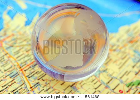 glass and maps