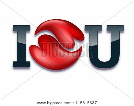 I love you - romantic card for Valentine's Day