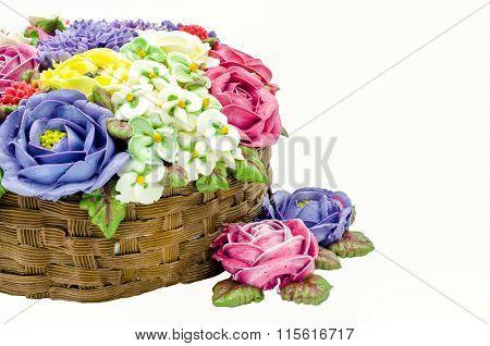 Butter cream flower cake (wedding cake)