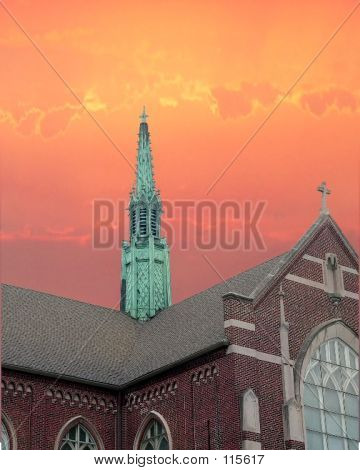 Sunrise Over Steeple
