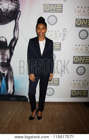 LOS ANGELES - JAN 23:  Yara Shahidi at the 47th NAACP Image Awards Nominees Luncheon at the Beverly Hilton Hotel on January 23, 2016 in Beverly Hills, CA