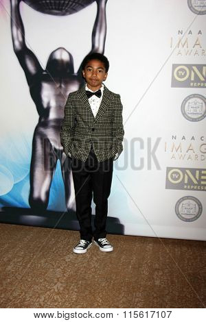LOS ANGELES - JAN 23:  Miles Brown at the 47th NAACP Image Awards Nominees Luncheon at the Beverly Hilton Hotel on January 23, 2016 in Beverly Hills, CA
