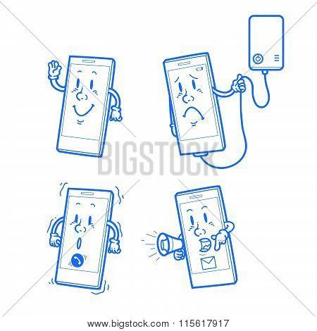 Cartoon smart phone