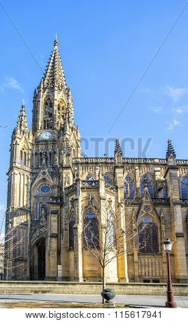 Good Shepherd Cathedral Of San Sebastian, San Sebastian, Basque Country, Spain.