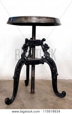 Antique Black Iron Chairs
