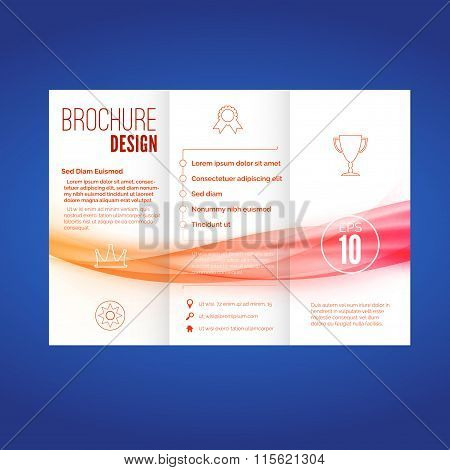 Bright Wave Pattern Abstract Brochure Layout