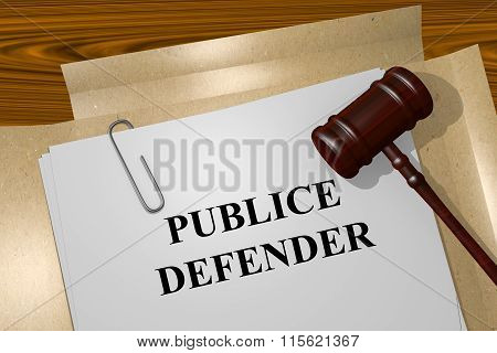 Public Defender Concept